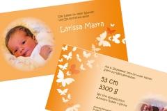 Geburtskarte Larissa