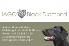 Visitenkarten Iago Black Diamond